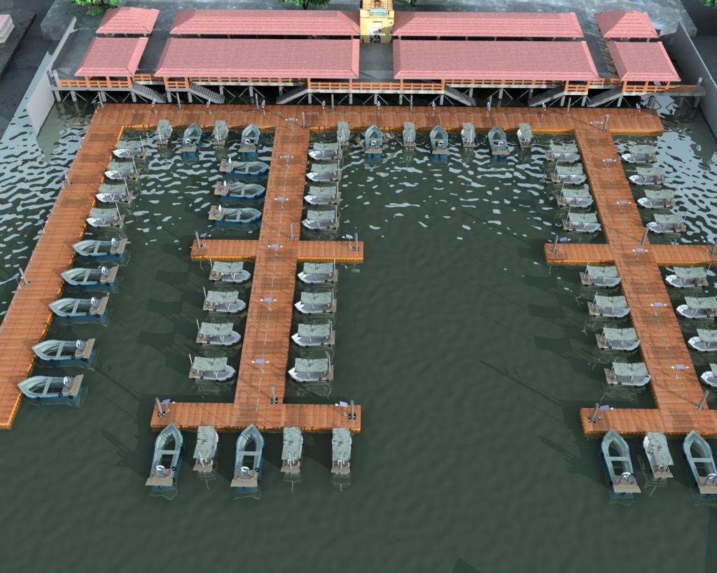 Marina muelles modulares
