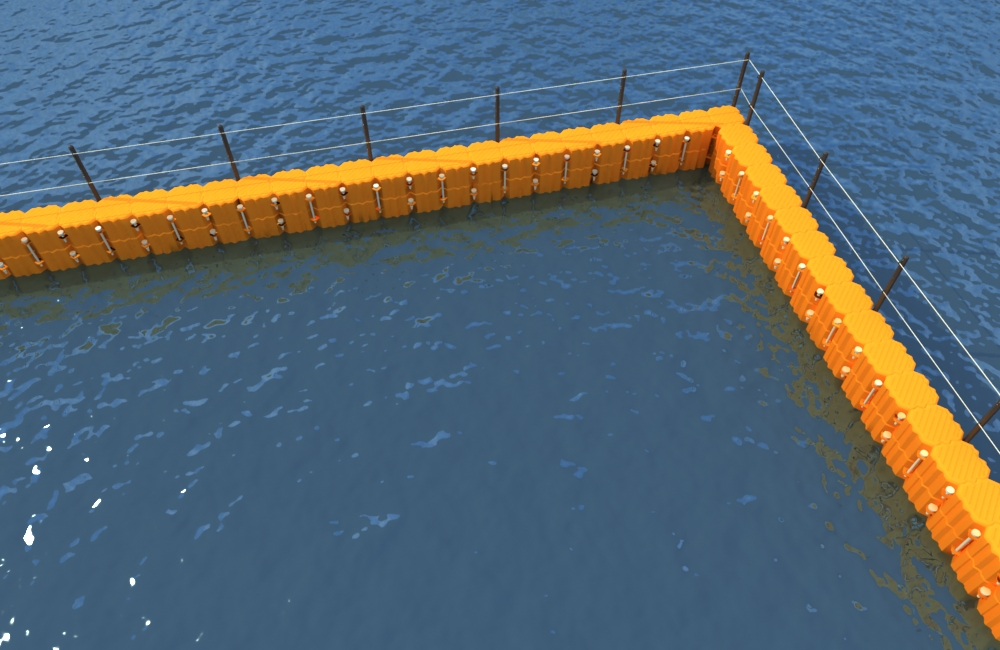 barrera flotante de proteccion