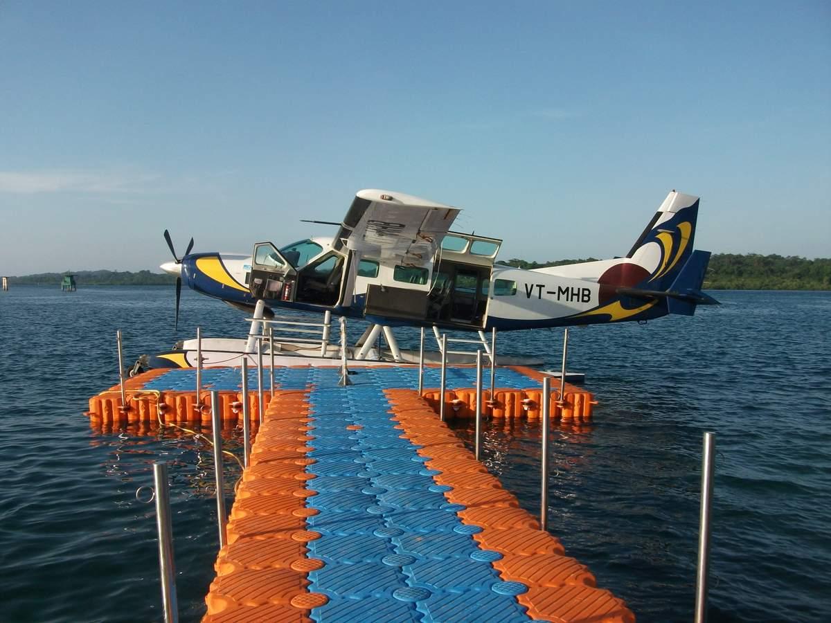 Industria aerea muelle flotante hidroavion