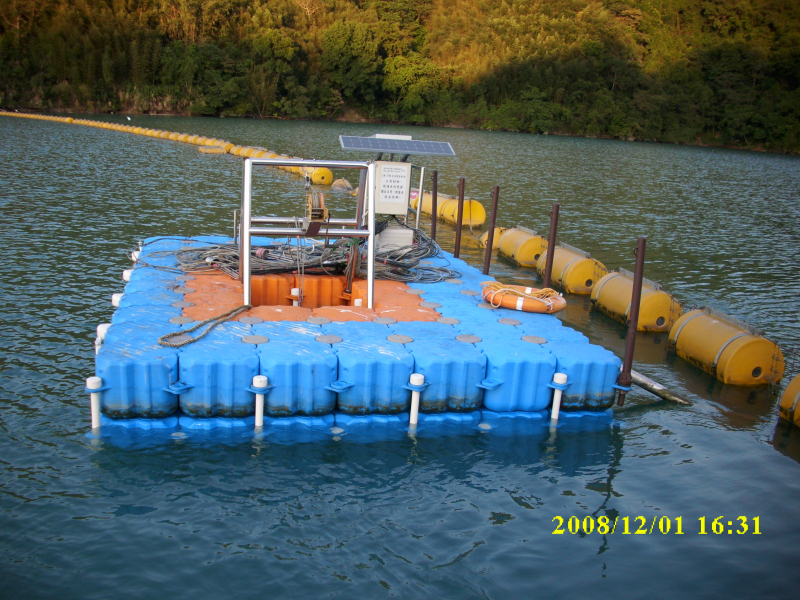 Malacate flotante muelle flotante colombia